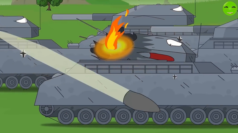 Soviet monsters of the red army - clip Cartoons about tanks